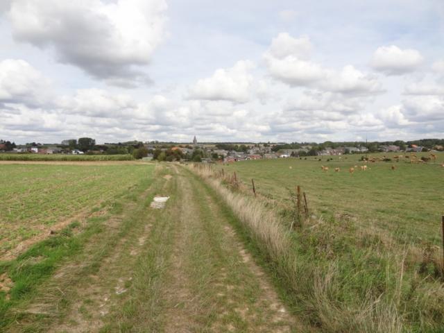 Vue vers Saint-Aubin; depuis la Chapelle Sainte Brigide
