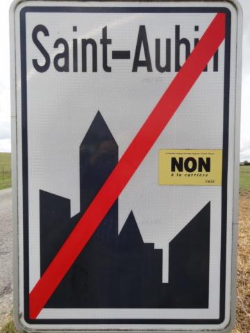 A la sortie de Saint-Aubin